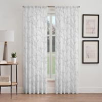 Stella Sheer 108-Inch Rod Pocket Window Curtain Panel in Grey