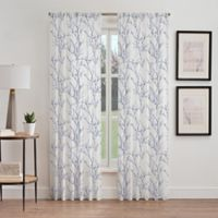 Stella Sheer 108-Inch Rod Pocket Window Curtain Panel in Blue