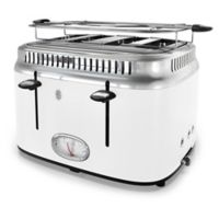 Russell Hobbs 4-Slice Retro Style Toaster in White/Stainless Steel