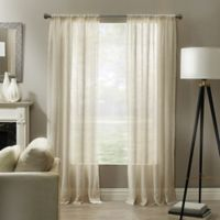 Linden 63-Inch Rod Pocket Sheer Window Panel in Natural