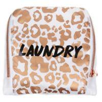 Miamica® Catwalk White Leopard Travel Laundry Bag in White/Gold
