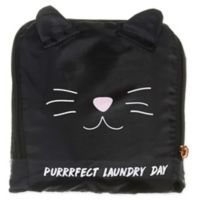 Miamica® Catwalk Black Cat Travel Laundry Bag in Black/Pink