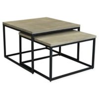 Moe's Home Collection Drey Square Nesting Tables in Grey (Set of 2)