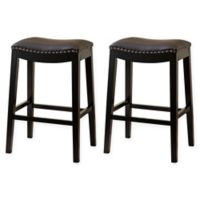 Hudson 29-Inch Bar Stools in Brown (Set of 2)