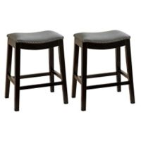 Abbyson Living Ti 29-Inch Bar Stools in Grey (Set of 2)