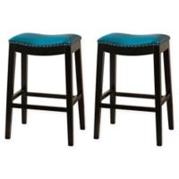 Hudson 29-Inch Bar Stools in Blue (Set of 2)
