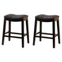 Hudson 26-Inch Bar Stools in Brown (Set of 2)