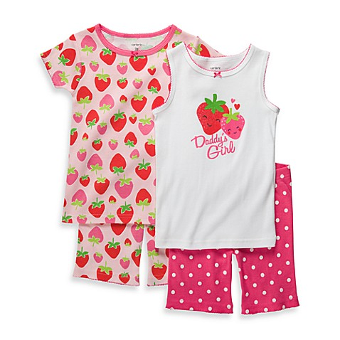 Carter's® Size 2T Snug-Fit Cotton 4-Piece PJs in Red Berry