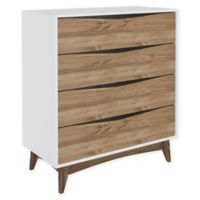 Manhattan Comfort Hamilton 4-Drawer Dresser in White