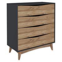 Manhattan Comfort Hamilton 4-Drawer Dresser in Grey