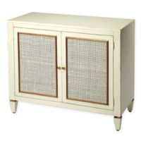 Masterpiece 2-Door Console Cabinet in White/Mahogany