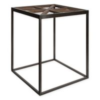 Kate and Laurel Mace Modern Farmhouse Side Table in Rustic Brown