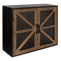 Kate and Laurel Mace Modern Farmhouse Cabinet in Rustic Brown
