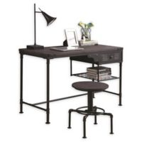 Bellwood Industrial Writing Desk in Rustic Brown