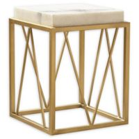 Bellawood Modern Marble Accent Table in Gold