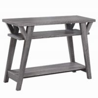 Rockaway Rustic Console Table in Grey