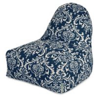 Majestic Home Goods French Quarter Bean Bag Kick-It Chair in Navy