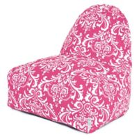 Majestic Home Goods French Quarter Bean Bag Kick-It Chair in Hot Pink