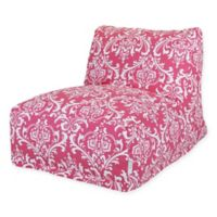 Majestic Home Goods French Quarter Bean Bag Lounger Chair in Hot Pink