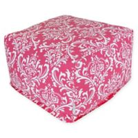 Majestic Home Goods French Quarter Bean Bag Ottoman in Hot Pink