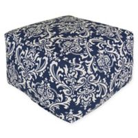 Majestic Home Goods French Quarter Bean Bag Ottoman in Navy