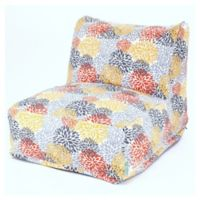 Majestic Home Goods Blooms Bean Bag Lounger Chair in Citrus