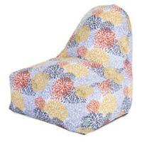 Majestic Home Goods Blooms Bean Bag Kick-It Chair in Citrus