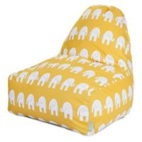 Majestic Home Goods Ellie Bean Bag Kick-It Chair in Yellow