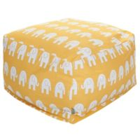 Majestic Home Goods Ellie Bean Bag Ottoman in Yellow