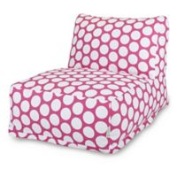 Majestic International Large Polka Dot Bean Bag Lounger in Hot Pink