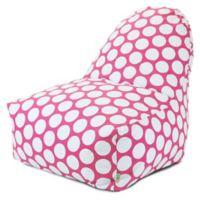 Majestic International Large Polka Dot Bean Bag Kick-It Chair in Hot Pink