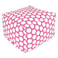 Majestic International Large Polka Dot Bean Bag Ottoman in Hot Pink