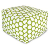 Majestic International Large Polka Dot Bean Bag Ottoman in Hot Green