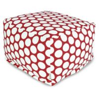 Majestic International Large Polka Dot Bean Bag Ottoman in Red Hot