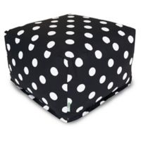 Majestic International Large Polka Dot Bean Bag Ottoman in Black