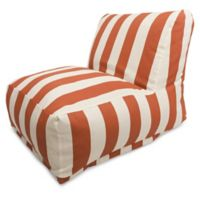 Majestic International Vertical Stripe Bean Bag Lounger in Burnt Orange
