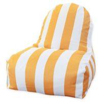 Majestic International Vertical Stripe Bean Bag Kick-It Chair in Yellow