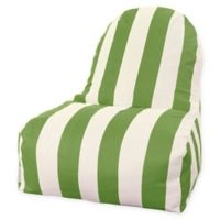 Majestic International Vertical Stripe Bean Bag Kick-It Chair in Sage