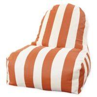 Majestic International Vertical Stripe Bean Bag Kick-It Chair in Burnt Orange