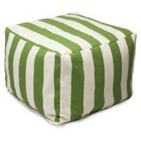 Majestic International Vertical Stripe Bean Bag Ottoman in Sage