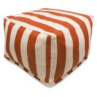Majestic International Vertical Stripe Bean Bag Ottoman in Burnt Orange