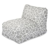 Majestic Home Goods Fusion Bean Bag Chair Lounger in Grey