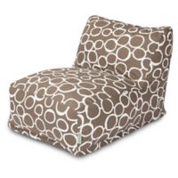 Majestic Home Goods Fusion Bean Bag Chair Lounger in Mocha