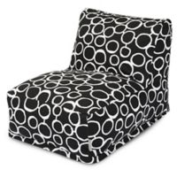 Majestic Home Goods Fusion Bean Bag Chair Lounger in Black