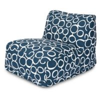 Majestic Home Goods Fusion Bean Bag Chair Lounger in Navy