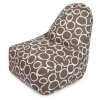Majestic Home Goods Fusion Bean Bag Kick-It Chair in Mocha