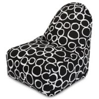 Majestic Home Goods Fusion Bean Bag Kick-It Chair in Black