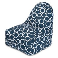 Majestic Home Goods Fusion Bean Bag Kick-It Chair in Navy