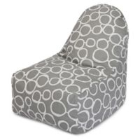 Majestic Home Goods Fusion Bean Bag Kick-It Chair in Grey