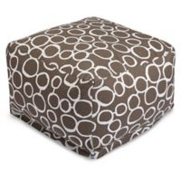 Majestic Home Goods Fusion Bean Bag Ottoman in Mocha